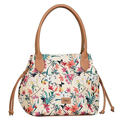 Gabor Damen Granada Fleur Shopper, Off White, L