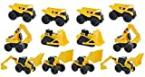 Toystate 1 Road Rippers CAT Mini Machine Free Construction Playtime Kit (12 Pack: 4 x Dump Trucks, Wheel Loaders, Excavator, 2 x Bulldozer, 1