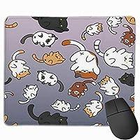 マウスパッド かわいい猫柄 ネコ Mousepad ミニ 小さい おしゃれ 耐久性が良 滑り止めゴム底 表面 防水 コンピューターオフィス ゲーミング 25 x 30cm