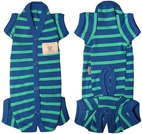 TONY HOBY Female Male Pet Clothes Dog Stripes 4 Legged Pajamas Dog pjs Jumpsuit Soft Cotton product image