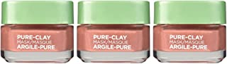 L'Oréal Paris Skincare Pure-Clay Face Mask with Red Algae for Clogged Pores to Exfoliate And Refine Pores, 1.7 Ounce (Pac...