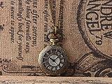 DMCMX Viejo Bolsillo de Bolsillo Reloj de Esqueleto patrón Puntero clásico Estilo Vintage Reloj de B...
