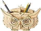 Rolife 3D立体パズル 木製パズル レーザーカット ギア ミニチュア 機械式モデル組み立てキット モデル 誕生日 大人 新年 ギフト クリスマス プレゼント (フクロウボックス) TG405