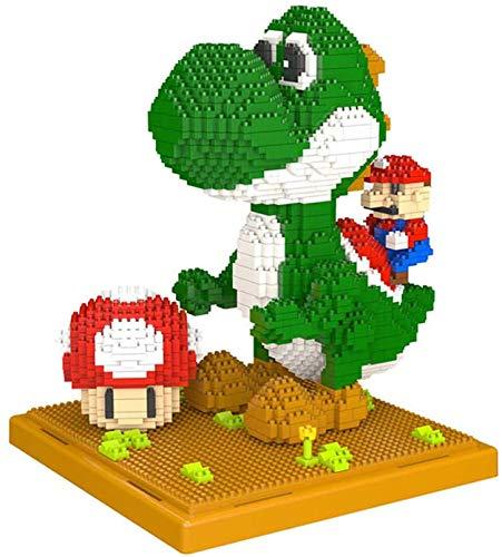 LNLJ Super Mario Yoshi 3D Bausteine Set Für Kinder, 2209 Stücke Miniatur Bausteine Montage...