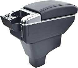 Oneuda Centre Console Storage Box for 2008-2017 Suzuki SX4 Universal Armrest Retractable Car Accessories (Double Rise with USB)