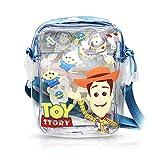 Finex Blue Toy Story Print PVC Transparent Crossbody Clear Zippered Handbag Purse Bag with Adjustbale Removable Shoulder Strap