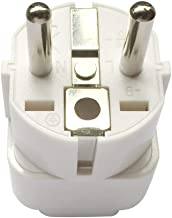 Travel Adapter for EU/DE/FR/IT/ES/Europe, UAE/KSA/UK/HK/US/JP/CN/AU to EU Plug Converter, Electronic Appliance Adapt to EU 2 Pins Outlet