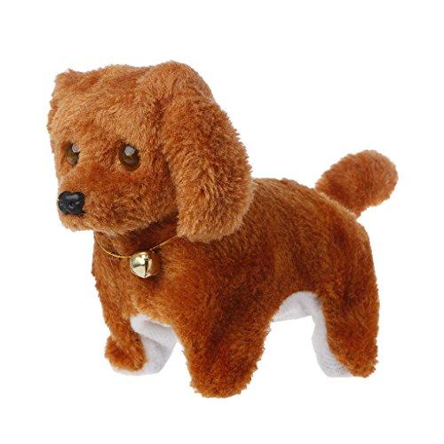 Dabixx Spielzeughund, Mode Gehen Bellen Spielzeug Hohe Qualität Lustige Elektrische Kurze Floss Dog - Braun