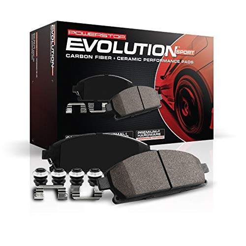 Power Stop Z23-2087, Z23 Carbon-Fiber Ceramic Front Brake Pad Set