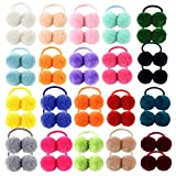 40 lazos de goma elástica para el pelo para niñas y niñas, accesorios para el cabello para niños y niñas