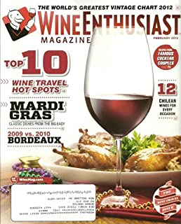 Wine Enthusiast Magazine February 2012 Top 10 Wine Travel Hot Spots, Mardi Gras