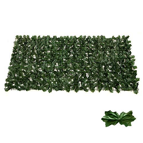 JJSCHMRC Aritificial - Valla de hiedra artificial extensible, para decoración al aire libre, jardinero, jardín (tamaño: 3)