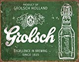 The Great Patriot Grolsch Beer Excellence Tin Sign