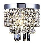 Lampara Techo de cristal,Lámpara de araña de cristal,para la sala de estar, dormitorio, pasillo-Ø20cm AFSEMOS