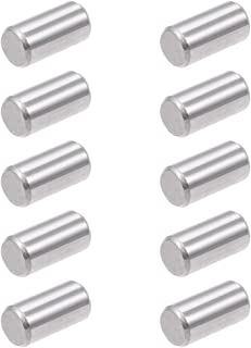 uxcell 10Pcs 8mm x 16mm Dowel Pin 304 Stainless Steel Wood Bunk Bed Dowel Pins Shelf Pegs Support Shelves Silver Tone