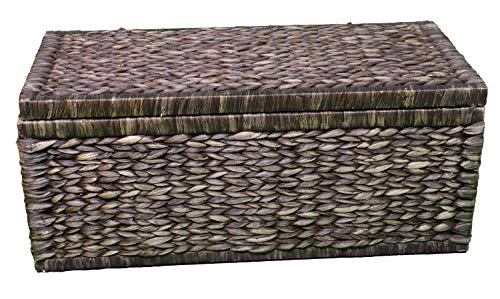 Artra Design Geflecht Truhe mit Klappdeckel 80 cm, braun BSCI atmungsaktiv Aufbewahrungsbox mit Deckel Aufbewahrungskiste Aufbewahrungstruhe Wäschetruhe - 2