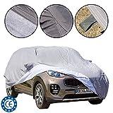 4CARS Couverture de voiture, housse de protection pour SUV, ajustement universel, imperméable,...