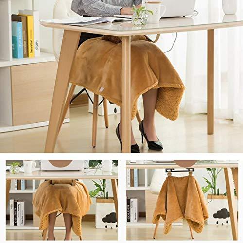 Ckssyao Rodilla Tibia de ratón USB climatizada Mantón Caliente Fleece Mantón &...