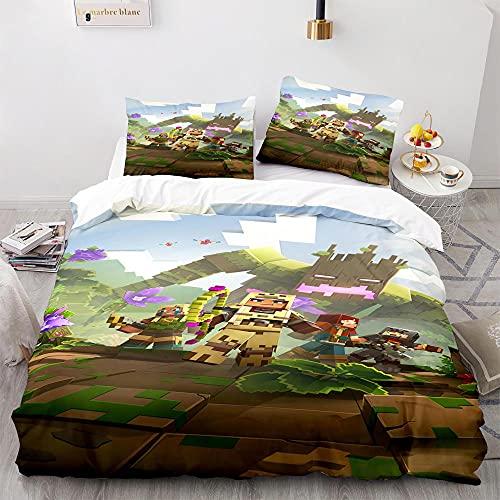 GSYHZL My World Funda NóRdica con Motivos Impresos En 3DJuego De Ropa De Cama para HombresTextiles para El HogarApta para DormitoriosApartamentosHabitaciones De NiñOs13_210x210(3pcs)