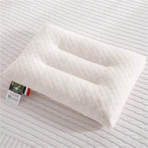 Anabei Almohada de memoria de partículas de látex para dormir de lado, espalda y estómago, color blanco