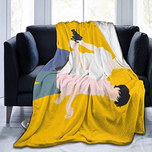 WH-CLA Cobija Banana Fish Ash Lynx Eiji Okumura Sofá 204Cmx153Cm Throw Bedding Sofá De Lujo Manta De Forro Polar Cama De Cumpleaños Todas Las Estaciones Anime Dibujos Animados De Gran Ta