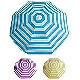 Papillon - Sombrilla playa aluminio o poliester, 200 cm, rayas multicolor, colores aleatorios