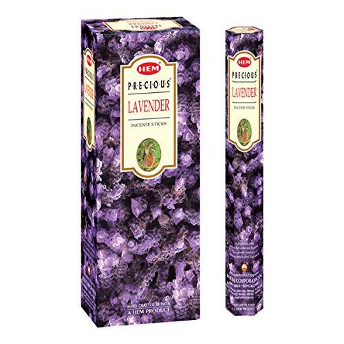 HEM Lavender Incense Sticks | Pack of 6 Hexagonal Tubes | Hand Crafted in India | Floral Fragrance | 301g, Large