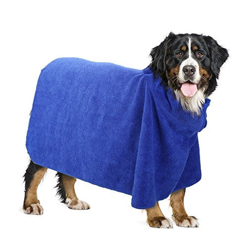 Pawaboo Toalla para Perros, Albornoz para Mascotas, Albornoz de Microfibra...