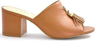 Chic Shoes Elegant Mid Heel Mules