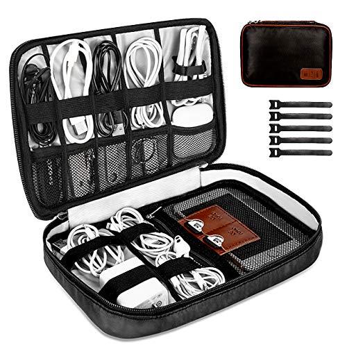 Organizer Cavi, GIKPAL Cavi organizza Bag Elettronica Viaggio Borsa Organizzatore per cavi/Disco rigido/Caricatore portatile/Tablet