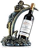 Esculturas Adornos para Manualidades Portabotellas para Botellas de Vino, Manualidades, Flores en Forma de Hada de Resina Premium Duradera (tamaño: A) (tamaño: C)