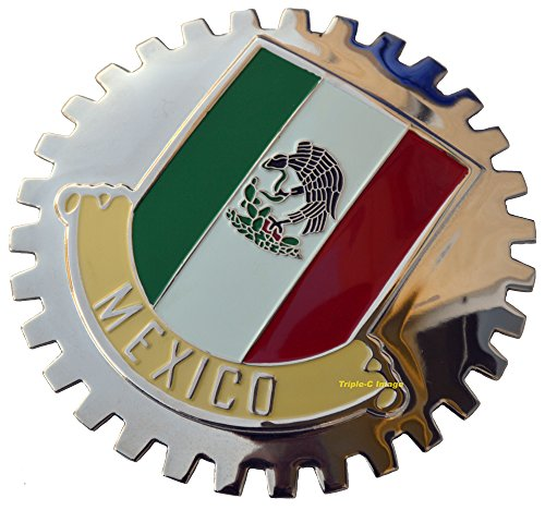 Mexico, Mexican Flag Car Grille Badge