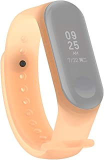 HAWEEL Bands Sports Wristbands Straps, Colorful Translucent Silicone Wrist Strap Watch Band for Xiaomi Mi Band 3 & 4 (Orange)