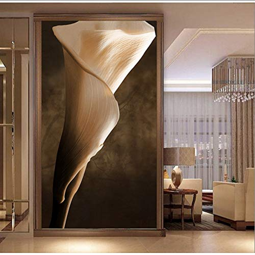 Pmhhc customize 3D Tulip Entrance Hallway Wall Paper Metal Wallpaper Mural Living Room Bedroom Sofa Background Decoration For Home-400X280Cm