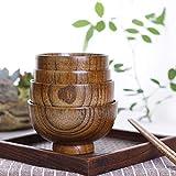Holzschalen Holz Reis Suppenschüssel Salatschüssel Gesunde Lebensmittel Behälter Vintage Geschirr Küchenaccessoires Lebensmittelbehälter Große kleine Schüssel für Kinder Geschirr Holzutensilien