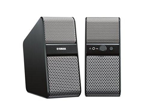 Yamaha NX-50 TV Sounbooster (2X 7 Watt, 2X 3,5mm Klinkenstecker) für PC/Tablet und Smartphone Silber