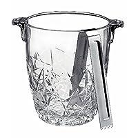 bormioli rocco dedalo di vetro secchiello ghiaccio con pinza, 0,95l