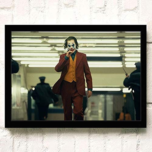 yaofale Sin Marco Modern Wall Art Canvas Painting Clown Joker Poster Canvas Prints Paintings Movie Wall Pictures for Living Room Wall Decoración para el hogar 40x50cm