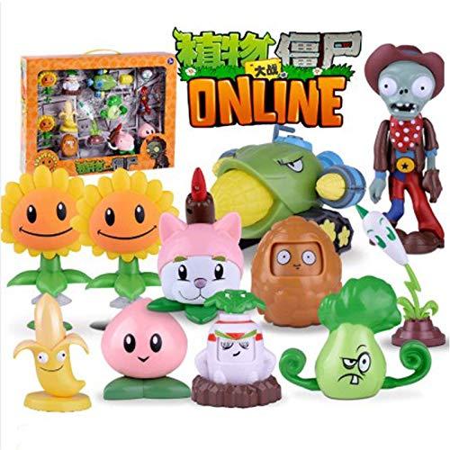 Nuevos juguetes genuinos de Plants Vs Zombie 2 Juego completo de regalo para niños Figura de anime de eyección grande Muñecas para niños sin caja colorida