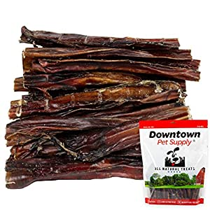 Downtown Pet Supply 6 and 12 inch American USA Bully Sticks for Dogs (Bulk Bags by Weight) Made in USA – Odorless Natural Dog Dental Chew Treats, High in Protein, Great Alternative to Rawhides