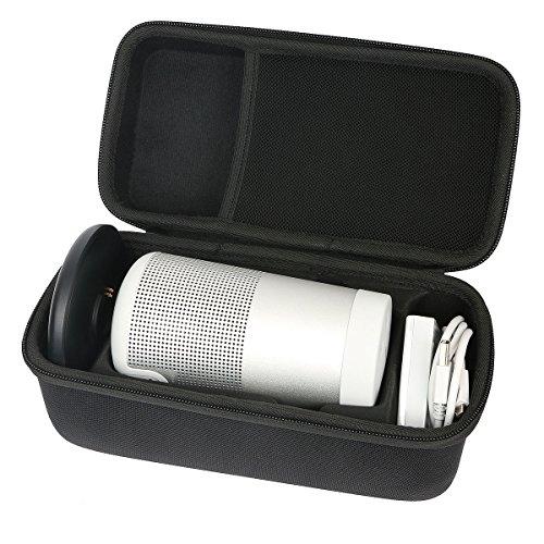 Khanka Hart Tasche Schutzhülle für Bose So&Link Revolve(Serie II) Bluetooth Lautsprecher,Hülle passt für Lautsprecher and Ladeschale. (groß)