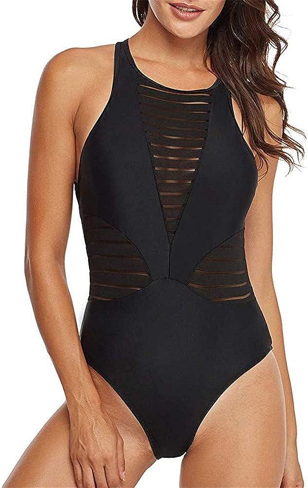 BeneGreat Women's One Piece Swimsuit Monokini Zip Front Rashguard Surfing Sport Swimwear Bathing Suit
