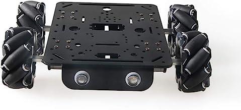 4WD Smart Mecanum Wheel Car Chassis for Arduino/Raspberry pi, ROS Metal Robot Platform with 80mm Mecanum Omni Wheel and Hi...
