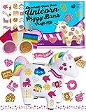 Purple Ladybug Kit Tirelire Enfant Licorne - Jouet Fille à décorer avec des Feuilles de Transfert Faciles à Appliquer et des Paillettes - Idée Cadeau Sympa pour Filles, Activité de Bricolage Enfant