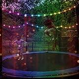 LHYAN 34FT 16 Modes Trampolin-Lichter, wasserdichte LED-Farblichter für Trampolin-Garten-Balkon-Deck-Urlaub-Party-Dekor