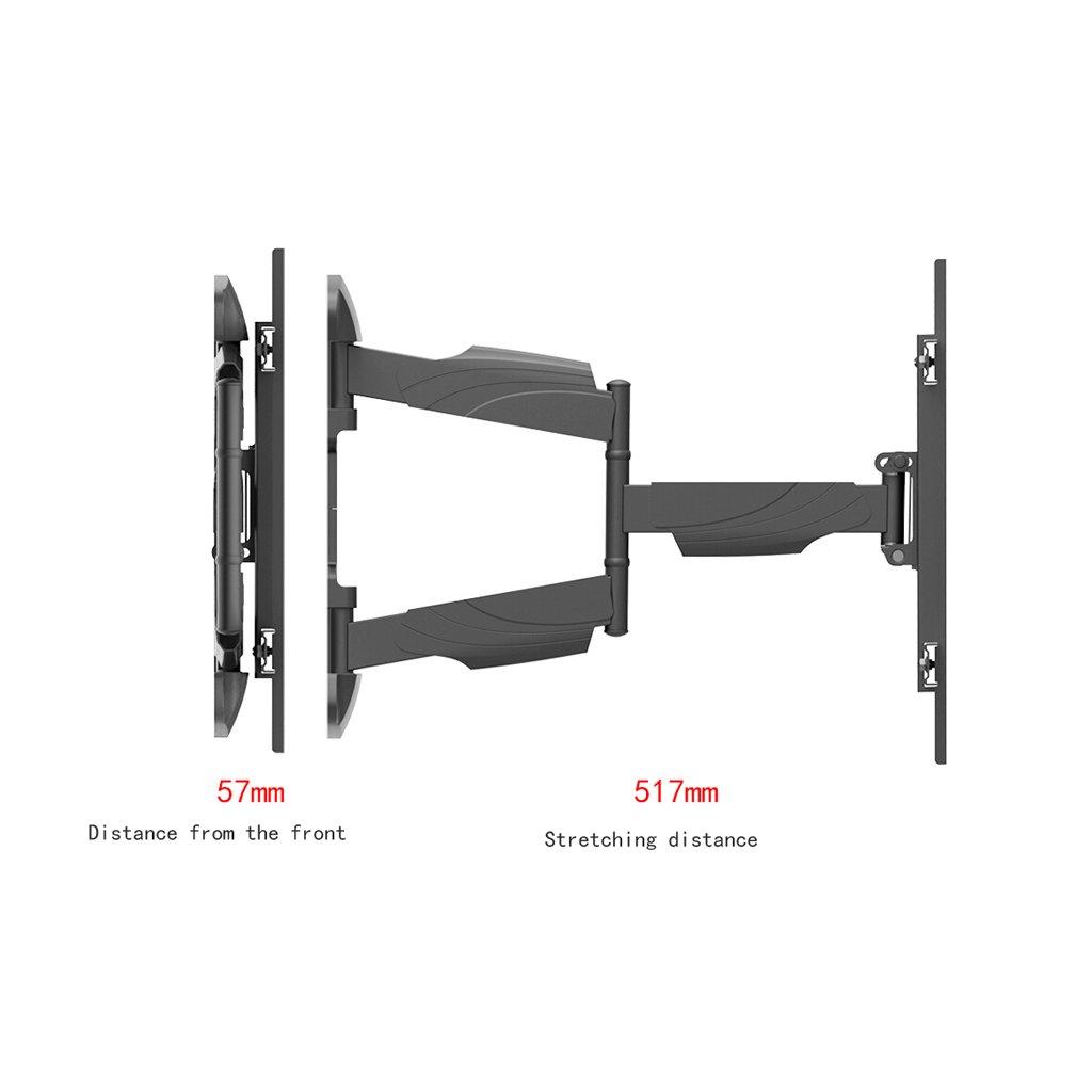 Liutao Rack para TV Rack para TV Televisor LCD telescópico Giratorio 50/55/60/65 (37-70 Pulgadas) (Color : Black, tamaño : 41.8 * 64.3cm): Amazon.es: Hogar