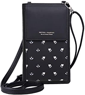MOCA PrettyZys Girls Women Women's Mobile Cell Phone Holder Pocket Wallet Hand Purse Clutch Crossbody Sling Bag with Mobile Cell Phone Wallet for Women Womens Girls