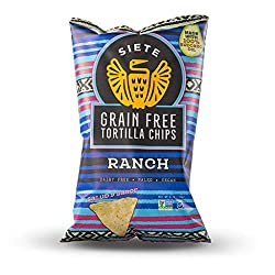 Siete Grain Free Tortilla Chips, Ranch, 4 oz