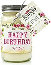 Scentiments HAPPY BIRTHDAY Gift Candle Cinnamon Scented Fragrance 16oz