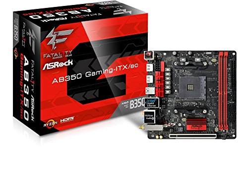 ASRock Fatal1ty AB350 Gaming-ITX/AC - Placa Base Gaming Mini-ITX (Socket AM4, 2X DDR4, Máx. 32GB, 2X HDMI, 4X SATA3, 1x Ultra M.2 (PCIe Gen3 x4), 1x PCIe 3.0 x16, 6X USB 3.1 Gen1 (1 Type-C))